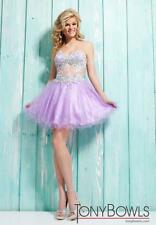 NWT Bella (Tony Bowls) TS21314 Short Dress - Lavender - Size 10 NEW