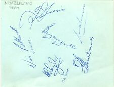 New Zealand Cricket Team + John Murray + Peter West signed autograph page 1960s