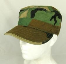 U.S. Military Equa Industries Woodland Camo Cap Hat Ear Flaps Size 6 3/4 Small