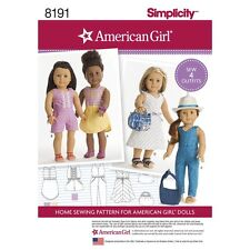 SEWING PATTERN! MAKE DOLL CLOTHES BY AMERICAN GIRL! SUMMER OUTFITS FIT JULIE~LEA