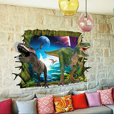 3D View Dinosaur Room Decor Wall Sticker Decal DIY Mural Art New