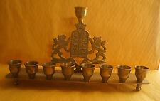 Vintage Judaica - Hanukkah Menorah (Oil) - Handmade in Israel - Style #6