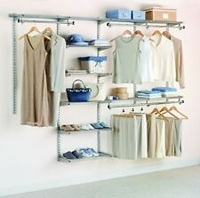 Closet Home Bedroom Organizer Custom Storage Shelf Track Sturdy Metal Frame