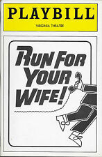 Playbill - RUN FOR YOUR WIFE! - February 1989 - NM