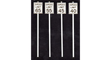 Tichy Train Group High Speed Limit Signs Kit #2065 8 Pieces O Scale New