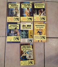 Set of Seven James Bond Books by Flemming (1960's)