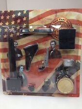 1/6 RARE Highly Detailed Civil War Confederate Belt Weapon & Accessory lot MOC