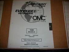 EVINRUDE OUTBOARD MOTOR BOAT ENGINE 130 MODELS Illust. parts
