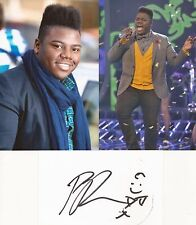 X FACTOR* PAIJE RICHARDSON SIGNED 3x5 WHITECARD+UNSIGNED PHOTOS+COA