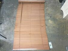 "Faux Wood Blinds - 35""W X 64""L with 2"" Slats - Tan"