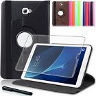 9H Panzerglas Folie+ 360°Tasche Samsung Galaxy Tab A 10.1 T580 Schutzhülle Cover