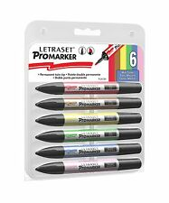 Letraset ProMarker -  Set Of 6 - Mid Tones