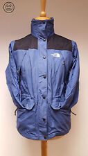 The North Face Womens Light Blue Vintage USA Hooded Raincoat Jacket, Small