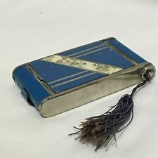 Vintage Retro Art Deco 1930s Camera Enamel Compact Lipstick Cigarette Case Japan