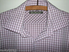 mint Ben Sherman mens shirt Size M/2 15.5''  chest 40-42'' purple check