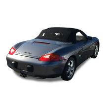 Porsche Boxster 1997-02 Convertible Soft Top & Heated Glass Window Black STF