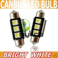 2x Bright Rear Reg NUMBER PLATE LIGHT Canbus LED MyLitCo C5W Xenon Upgrade Bulb
