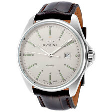 Glycine Combat 6 Automatic Silver Dial Mens Watch 3890.11.LBK7F