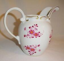 I Godinger Co China Pitcher Pink Flowers and Gold Trim