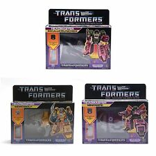 Transformers G1 Decepticon Headmaster Mindwipe+Skullcruncher+Weirdwolf Reissue