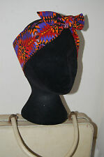 Aztec Mexican bandana alternative punk dolly bow head scarf 50s pinup hair wrap