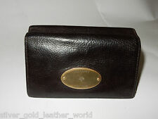 MULBERRY CHOCOLATE BROWN LEATHER FRENCH PURSE  - INCLUDED BOX