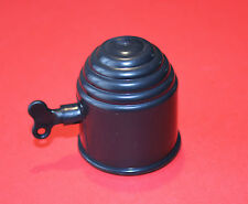 "BLACK Plastic Lockable Tow Ball Cover /Cap 50mm for Swan Neck or Flange ""NEW"""