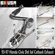 SS Catback Exhaust  for 1993 1994 1995 1996 1997 Honda Civic Del Sol