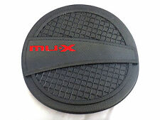 FOR NEW ISUZU MU-X 2014 UTE MATTE BLACK FUEL OIL CAP TANK COVER TRIM V.4