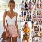 Sexy Summer Womens Lot Lace MINI Playsuit Ladies Beach Shorts Jumpsuit Sun Dress
