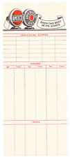 Amoco Oil Co, American Gas, Advertising Bridge Tally Sheet