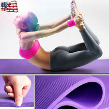10MM Thick Ant-Slip Yoga Mat Fitness Lose Weight Exercise Pilate Gym Cushion Pad