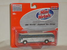 MINI METALS HO SCALE GMC PD 4103 GREYHOUND BUS / CHICAGO 1:87 SCALE