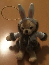 Bath And Body Works Tiny Bear with Bunny Ears and Coat Ornament Named
