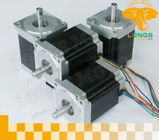 【DE Ship】4pcs Nema 34 stepper motor 1600 oz.in Single Shaft 11.2NM 4 leads CNC