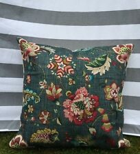 Floral Cushion Cover, Luxury, Paisley, Rich Green, Vintage, William Morris style