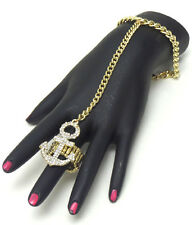 Bracelet and Ring set Rhinerstone and gold