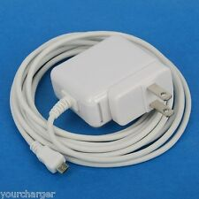 3m 10ft Cable AC Wall Charger WHITE for Sony Xperia XA Ultra X Z5 Z3 Compact C5