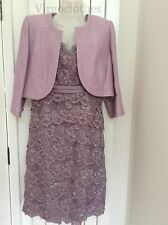 NWT - Gorgeous Jacques Vert Lilac Lace Dress & Lilac Bolero, 18, Wedding,Occasio