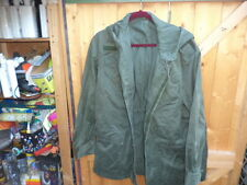 olive green hooded jacket ,  French  army 1970,s ? jeep coat nato military parka