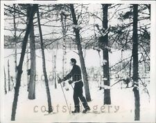 1938 Cross Country Skier Pear Lake MN Press Photo