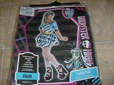 FRANKIE STEIN MONSTER HIGH HALLOWEEN COSTUME & WIG SZ MED DRESS UP NEW KIDS