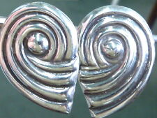 MEXICAN STERLING SILVER SIGNED HALLMARKED VINTAGE NON PIERCED EARRINGS