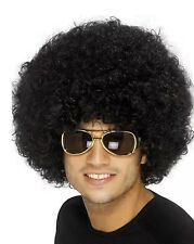 Adult Mens 70's Funky Afro Wig Black Smiffys Disco Fancy Dress Costume