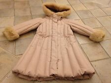 GIRL Genuine I PINCO PALLINO Down Jacket Coat Dusty Rosa Taglia 4 per 3-4 anni