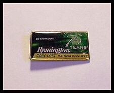 Pin Remington Core-Lokt Big game Ammunition 75 Years U.S. Made  Lapel Hat New D9
