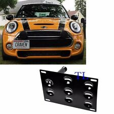 Front Bumper Tow Hook License Plate Bracket For Mini Cooper Countryman Paceman