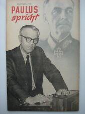 Tarnschrift Wehrmacht NKFD Kriegsgefangenschaft Feldmarschall Paulus spricht DDR