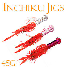 3x 45g Squid Inchiku Jig Micro Octo Jigs Fishing Lure Jigging Gomoku Snapper 2