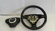 AUDI TT MK1 1.8T QUATTRO 1998-2006 BLACK LEATHER STEERING WHEEL WITH AIRBAG